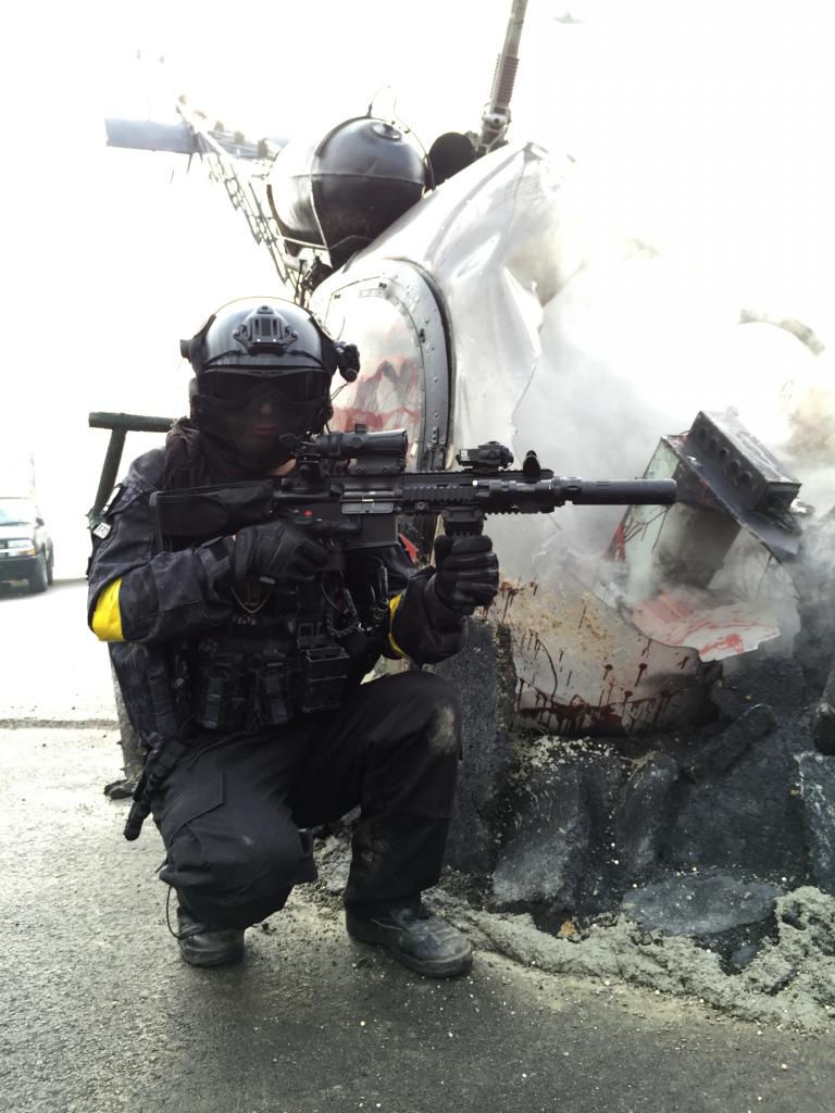 HK416Dwithヘリ