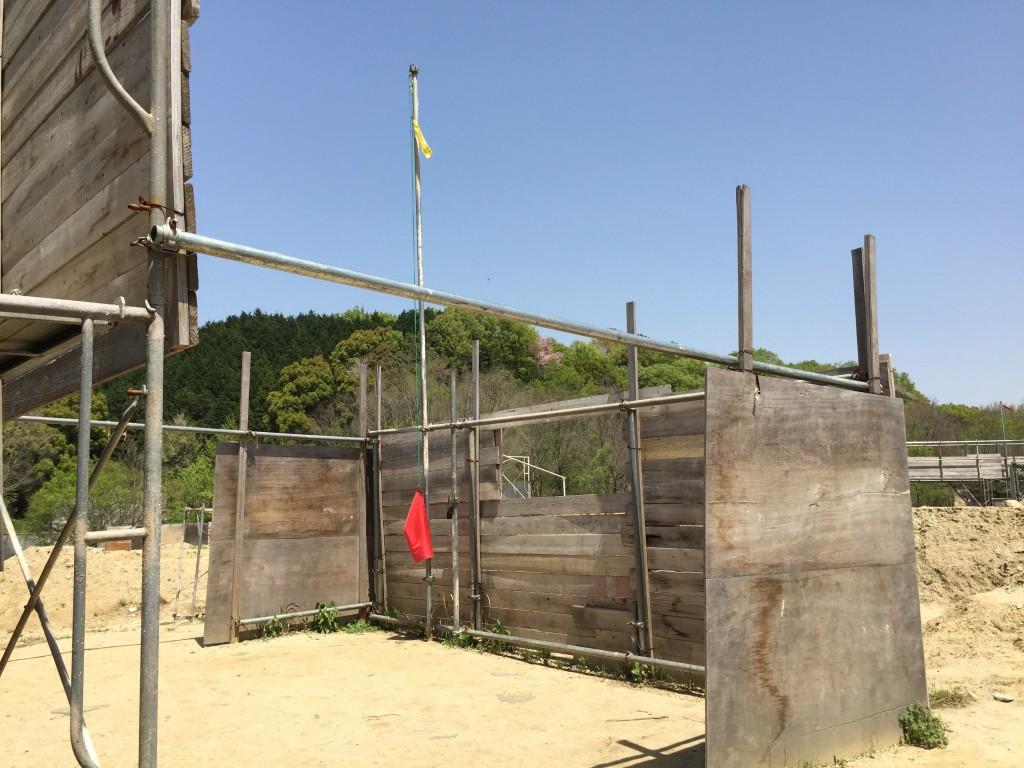 大阪トレンチ 手前側ベースキャンプ