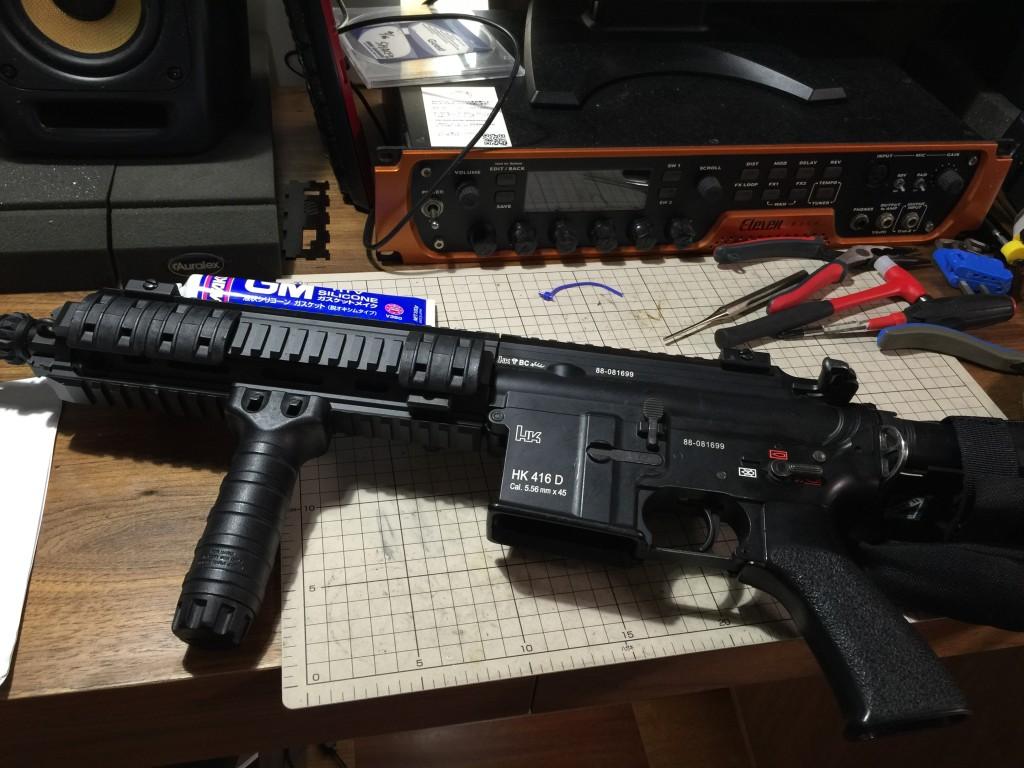 HK416D 分解直前