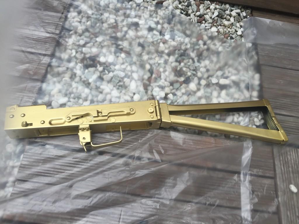 AKS74U ロアフレーム塗装