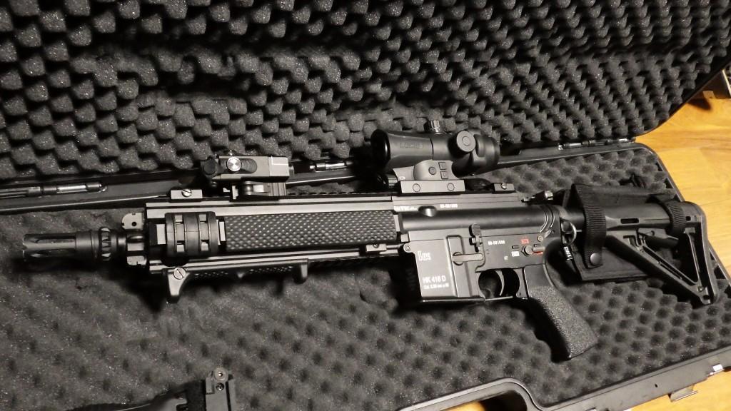 HK416D 数日使用した状態