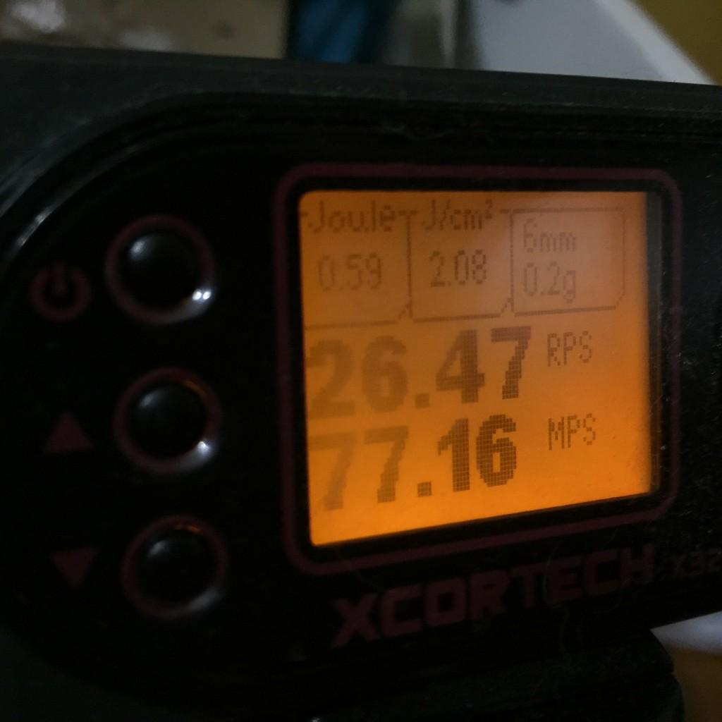 AA-12 弾速チェック